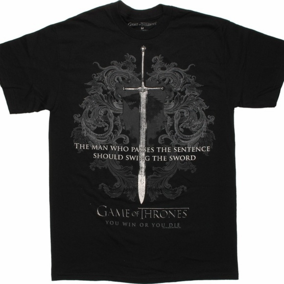 Fifth Sun Shirts Game Of Thrones Ice Sword Tee Xl Ned Stark Quote